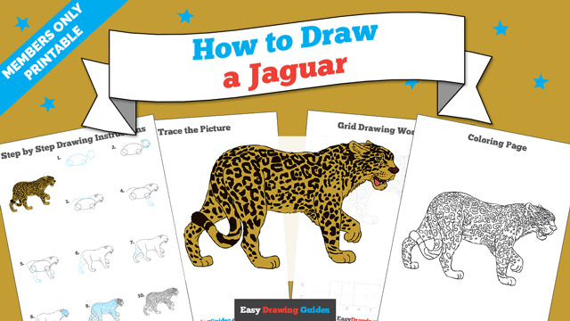 download a printable PDF of Jaguar drawing tutorial