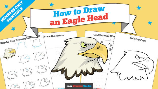 download a printable PDF of Eagle Head drawing tutorial