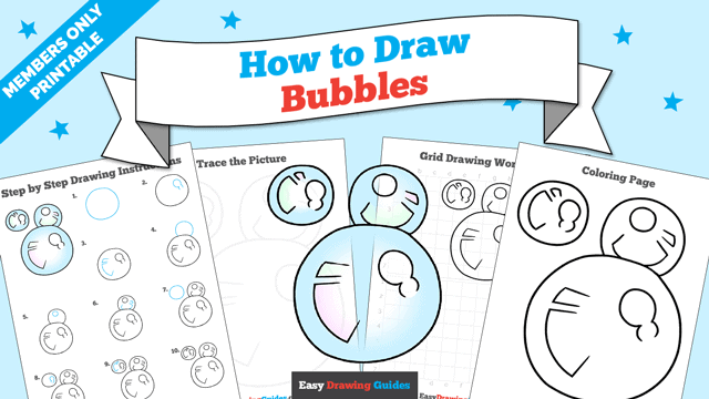download a printable PDF of Bubbles drawing tutorial