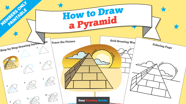 download a printable PDF of Pyramid drawing tutorial