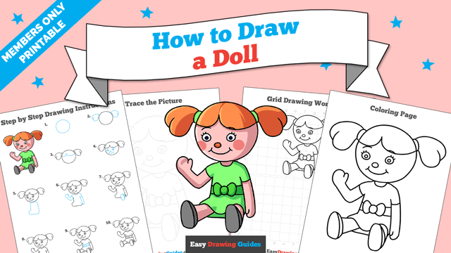 download a printable PDF of Doll drawing tutorial