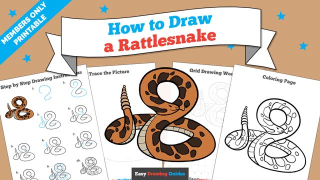 download a printable PDF of Rattlesnake drawing tutorial