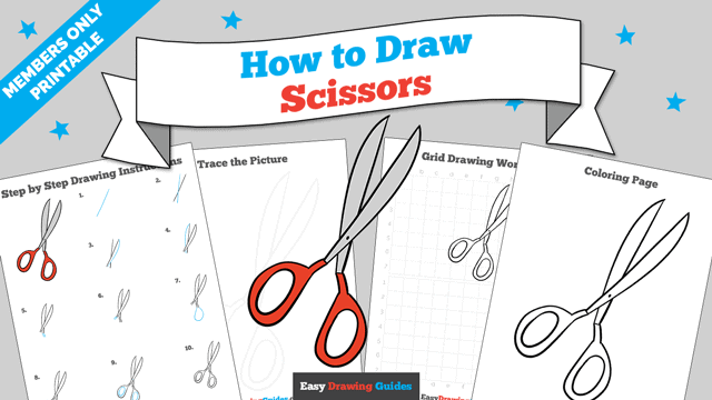 download a printable PDF of Scissors drawing tutorial