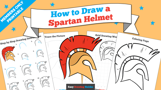 Printables thumbnail: How to draw a Spartan Helmet