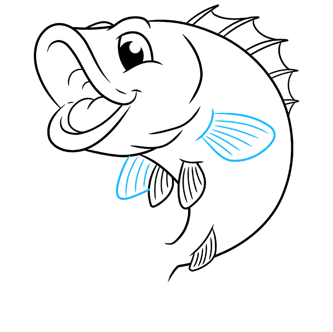 How to Draw Bass: Step 8