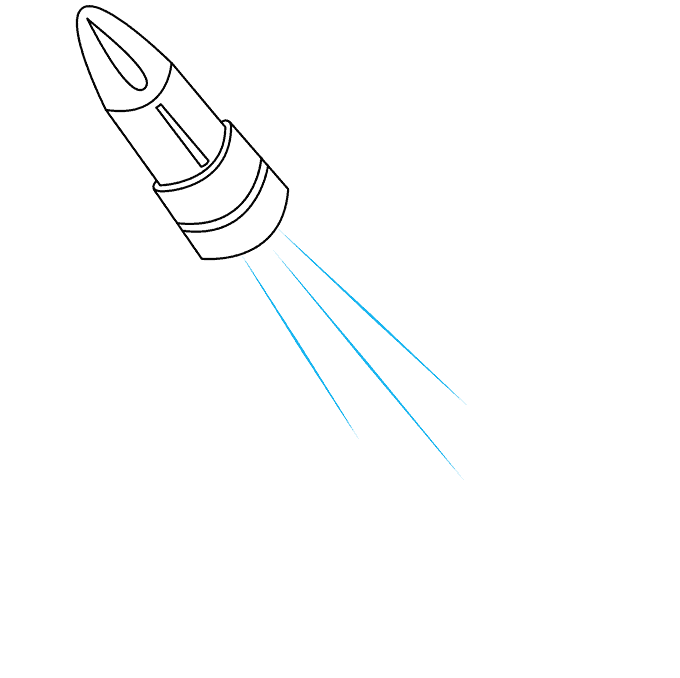 how to Draw a Bullet Step 07