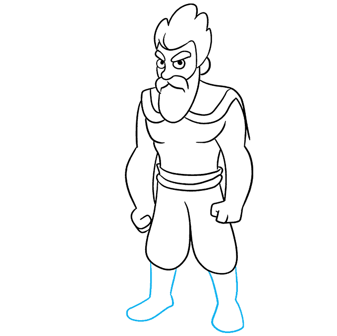 How to Draw Celtic Warrior: Step 7