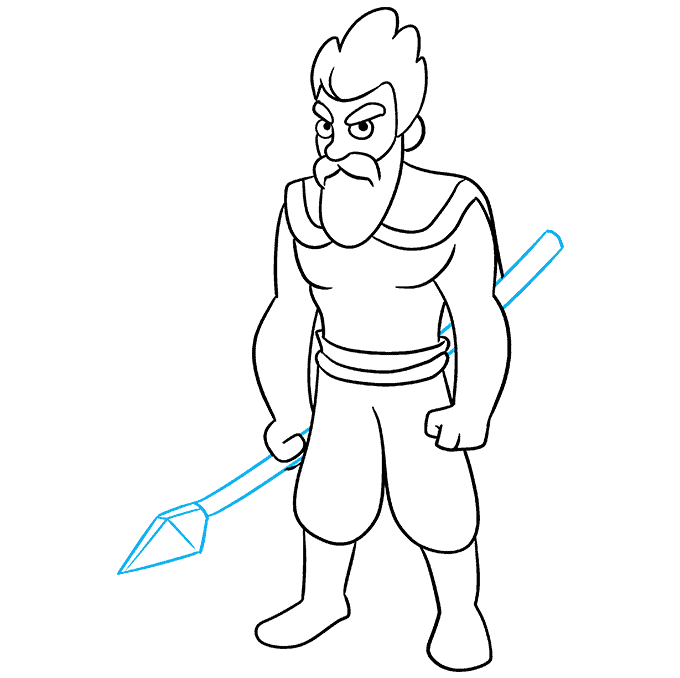 How to Draw Celtic Warrior: Step 8