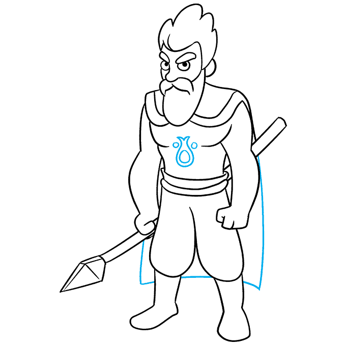 How to Draw Celtic Warrior: Step 9