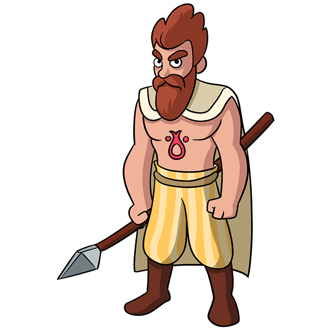How to Draw a Celtic Warrior Step 10