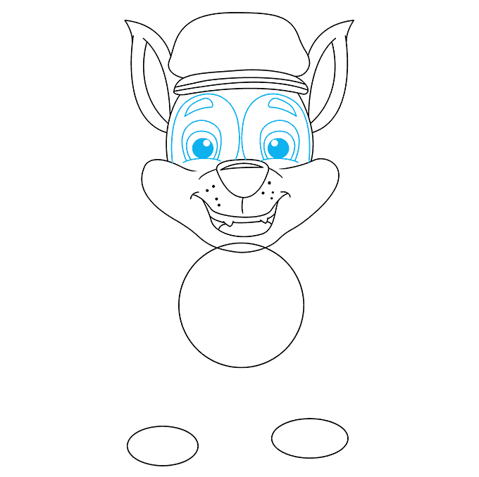 How to Draw Chase from Paw Patrol: Step 5