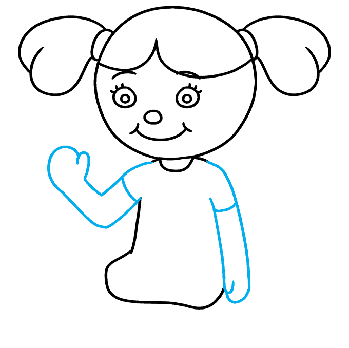 How to Draw Doll: Step 6