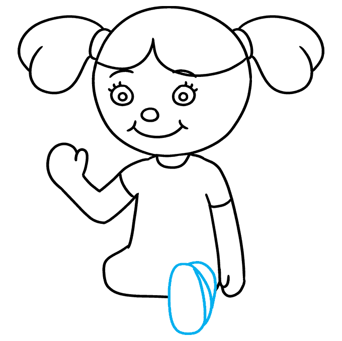 How to Draw Doll: Step 7