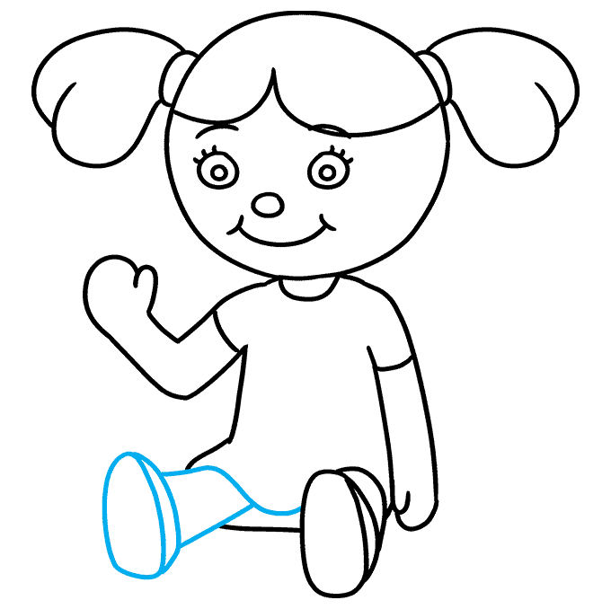 How to Draw Doll: Step 8