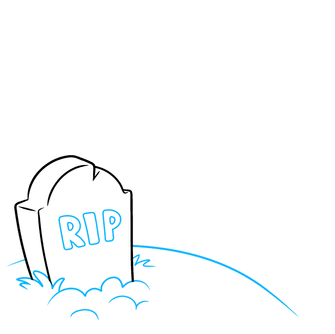 How to Draw Graveyard: Step 2