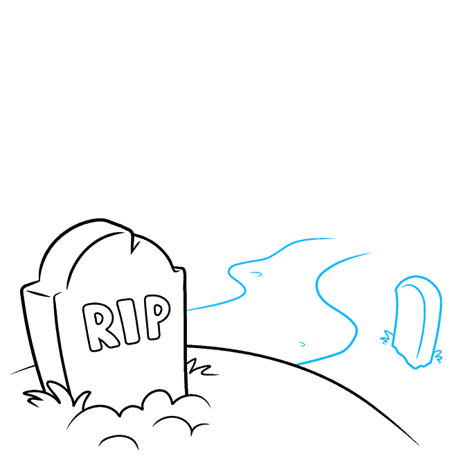 How to Draw Graveyard: Step 3