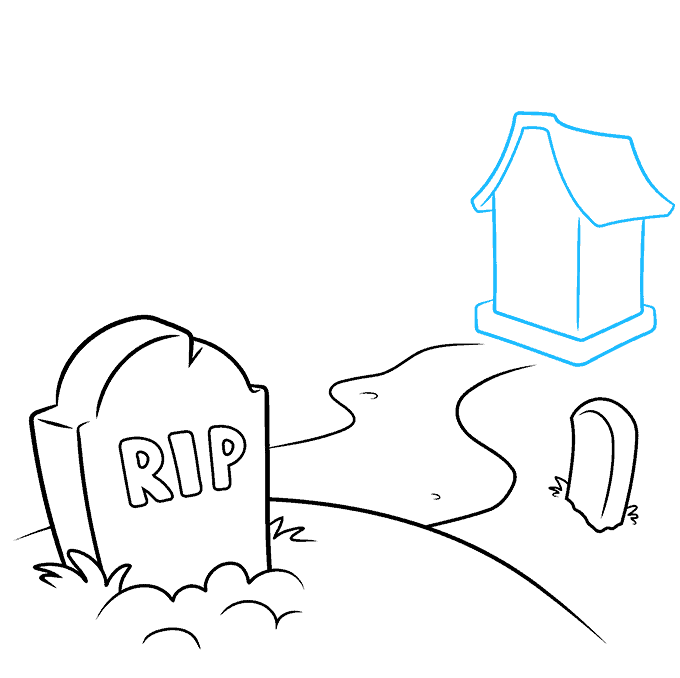 How to Draw Graveyard: Step 4