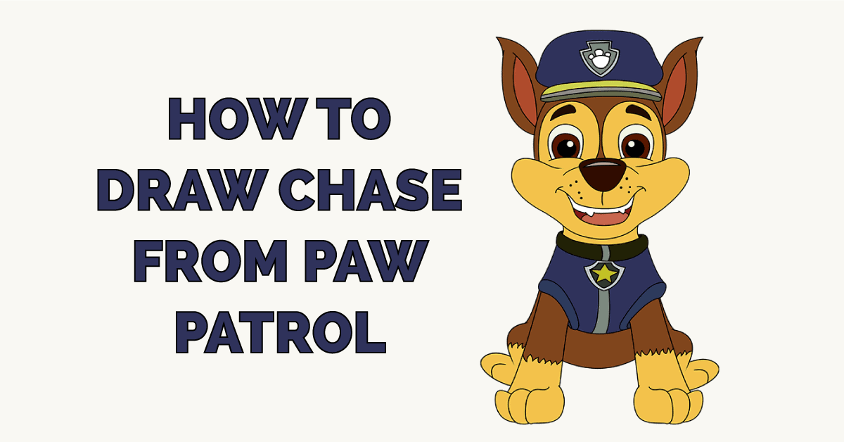 How to Draw Chase from Paw Patrol Featured Image