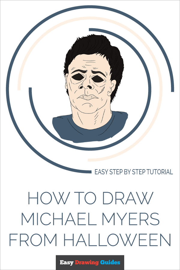 How to Draw Michael Myers from Halloween | Share to Pinterest