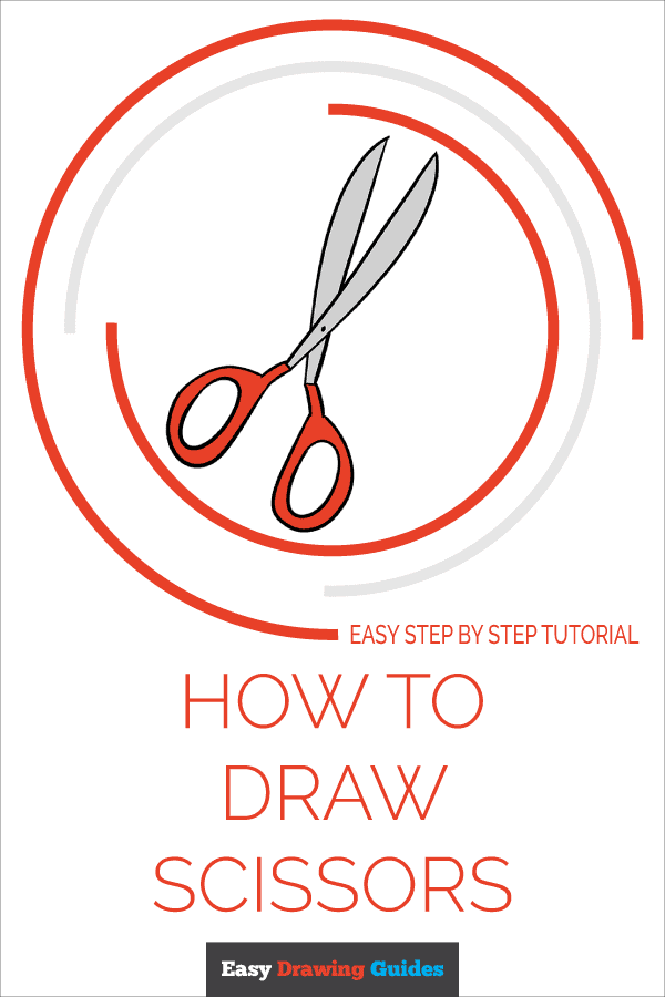 How to Draw Scissors | Share to Pinterest