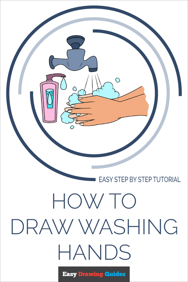How to Draw Washing Hands | Share to Pinterest