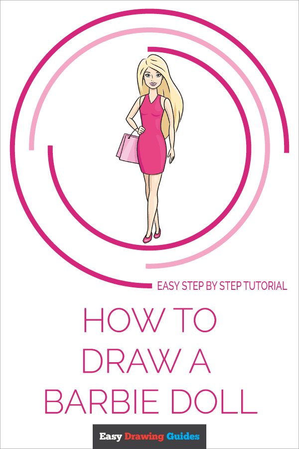 How to Draw a Barbie Doll Pinterest Image