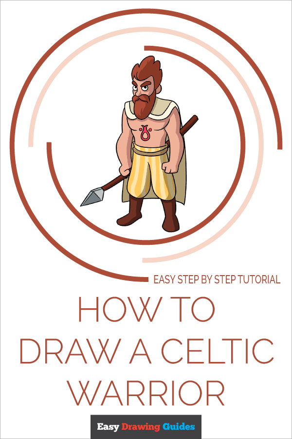 How to Draw Celtic Warrior | Share to Pinterest