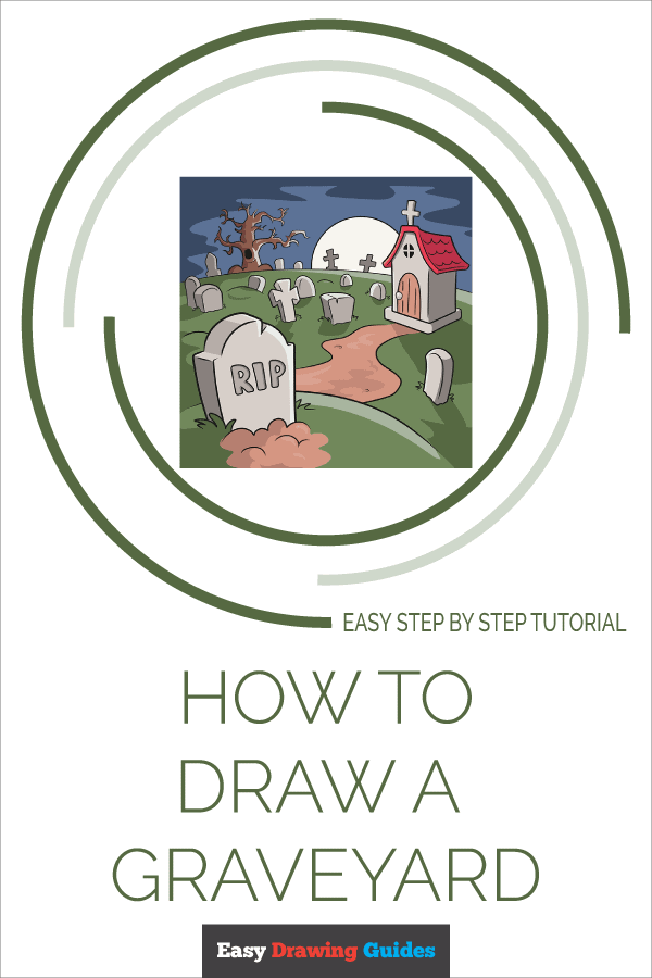 How to Draw Graveyard | Share to Pinterest