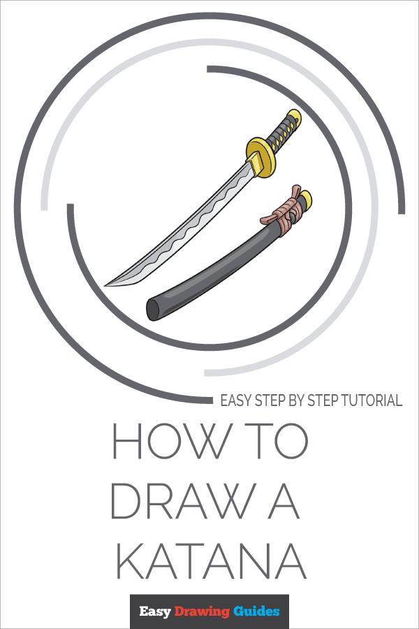 How to Draw Katana | Share to Pinterest