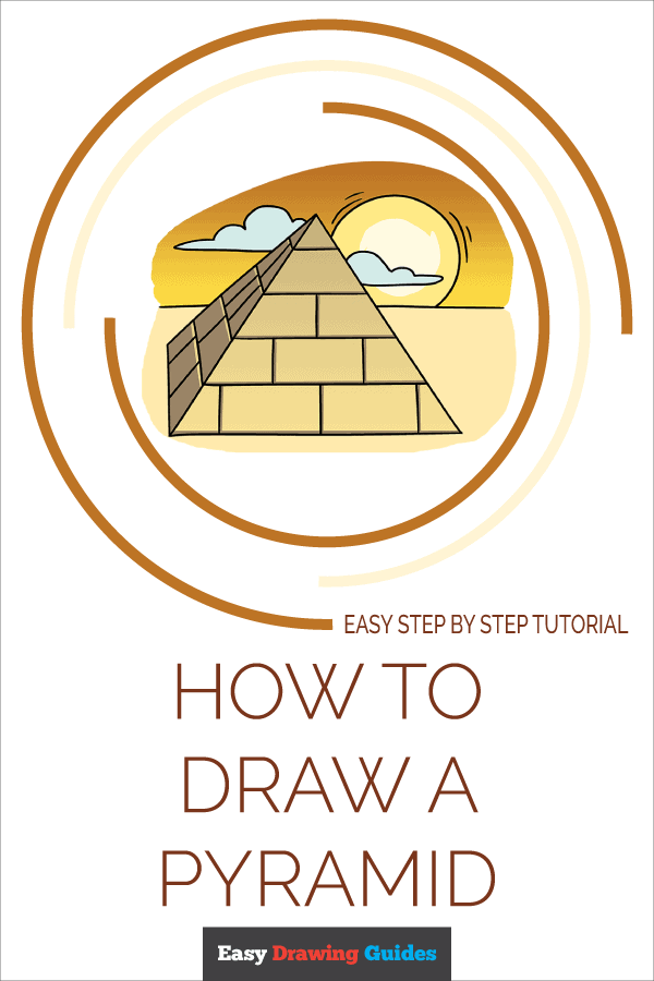 How to Draw Pyramid | Share to Pinterest