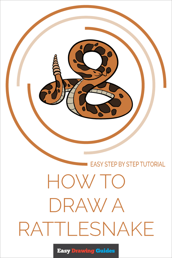 How to Draw Rattlesnake | Share to Pinterest