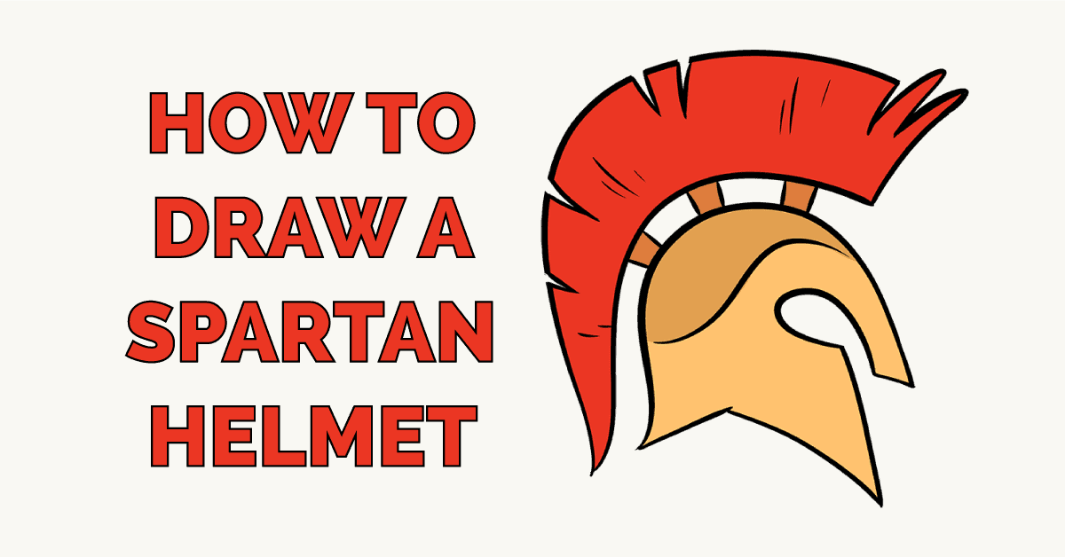 How to Draw a Spartan Helmet Featured Image