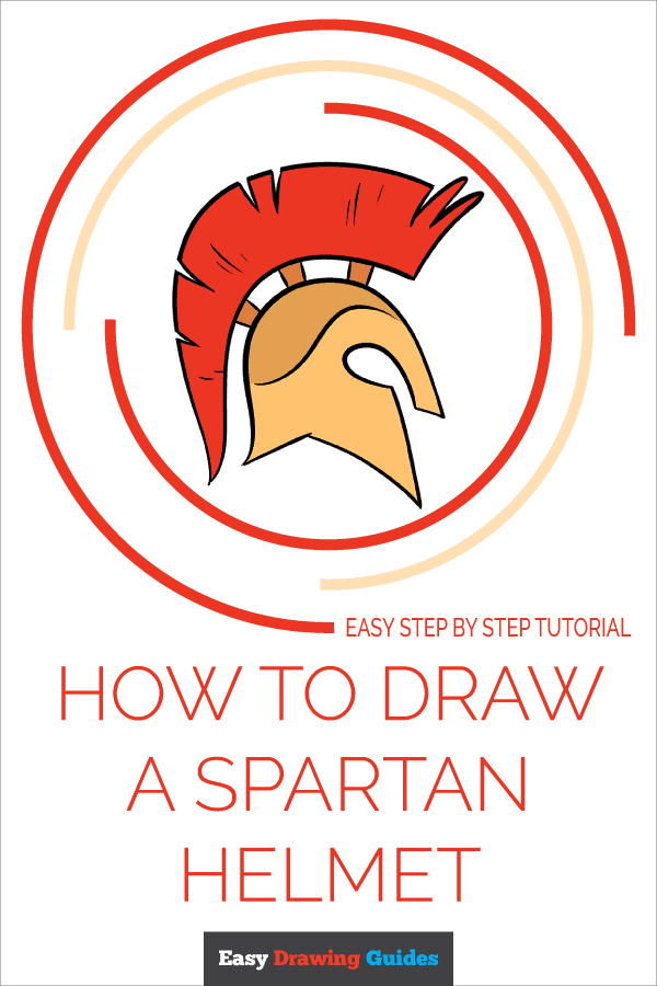 How to Draw Spartan Helmet | Share to Pinterest