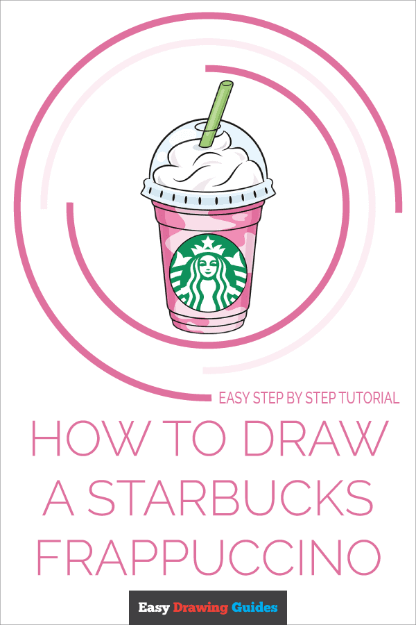 How to Draw Starbucks Frappuccino | Share to Pinterest