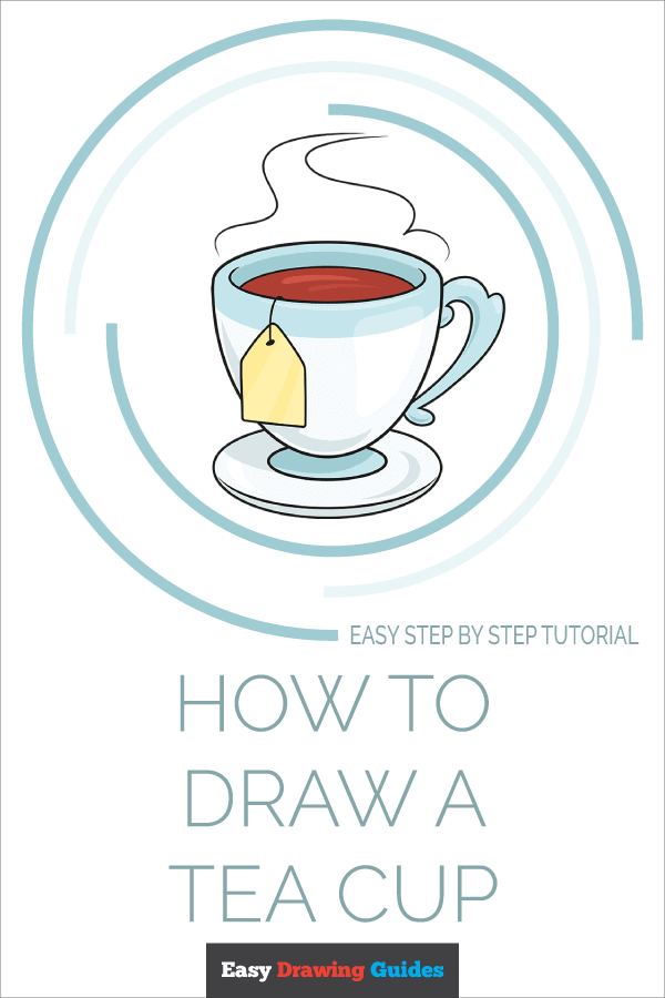 How to Draw Tea Cup | Share to Pinterest