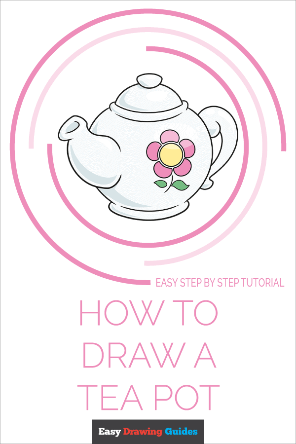 How to Draw Tea Pot | Share to Pinterest