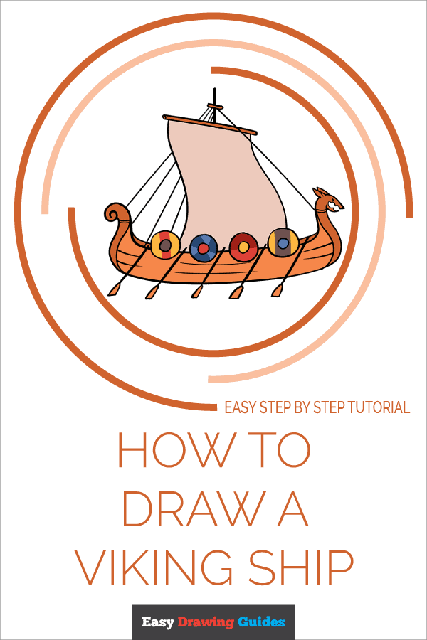 How to Draw Viking Ship | Share to Pinterest