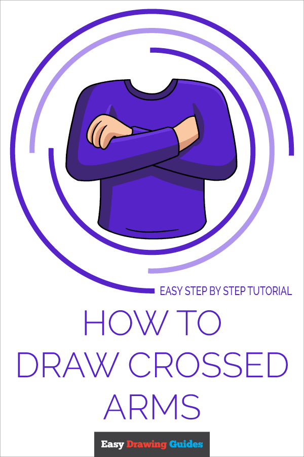 How to Draw Crossed Arms | Share to Pinterest