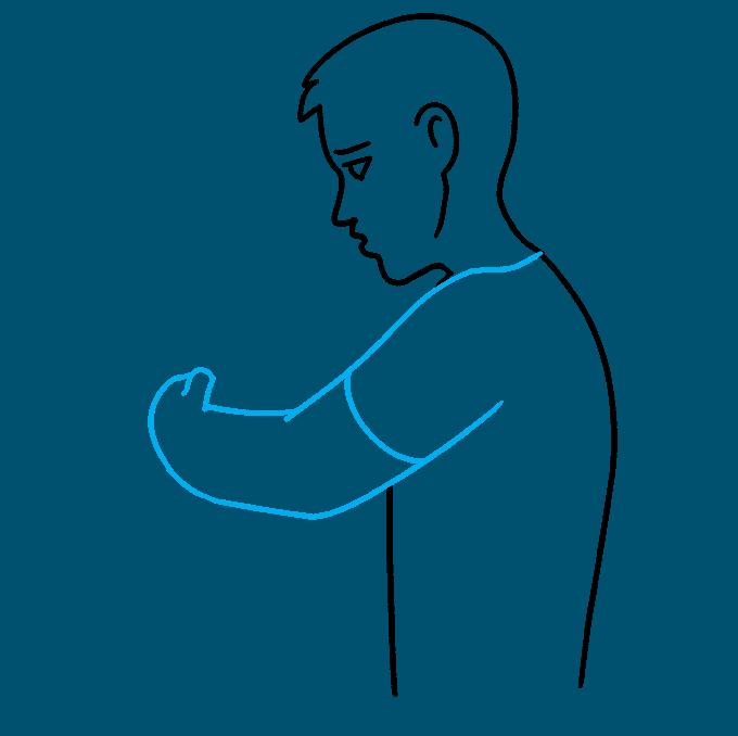 How to Draw Hug: Step 4