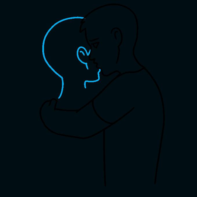 How to Draw Hug: Step 5