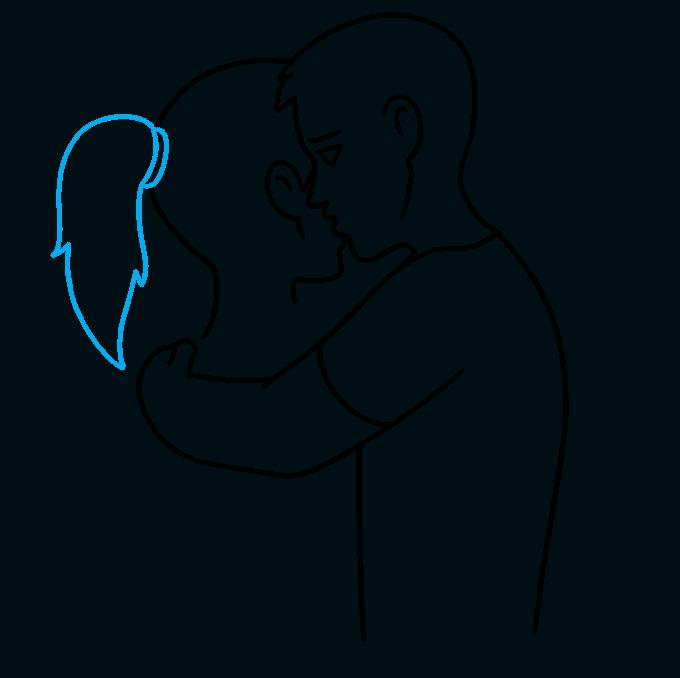 How to Draw Hug: Step 6