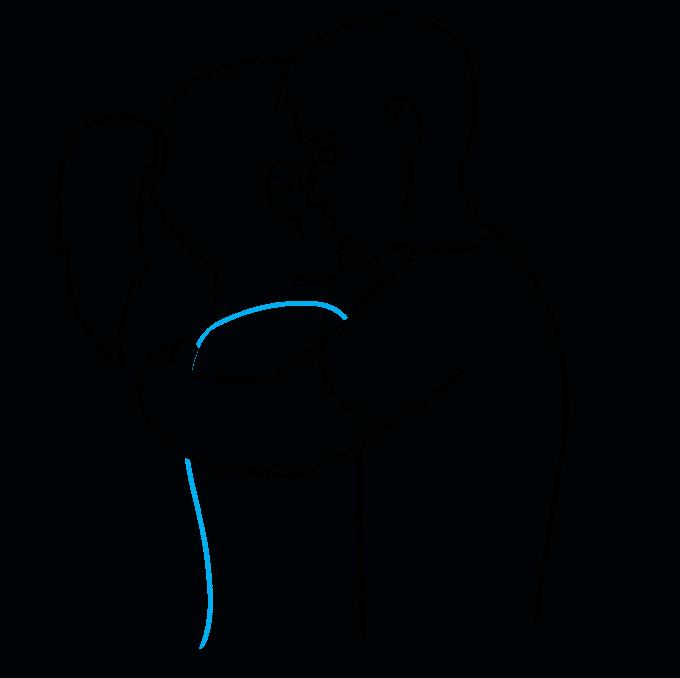 How to Draw Hug: Step 7