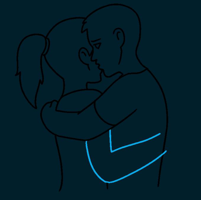 How to Draw Hug: Step 8