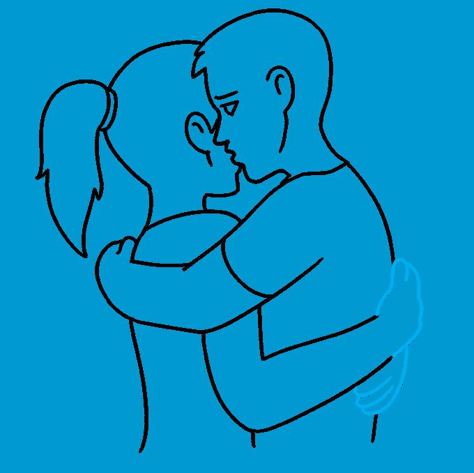 How to Draw Hug: Step 9