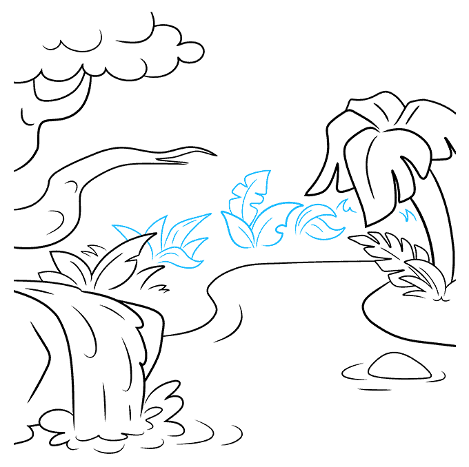 How to Draw Jungle: Step 7