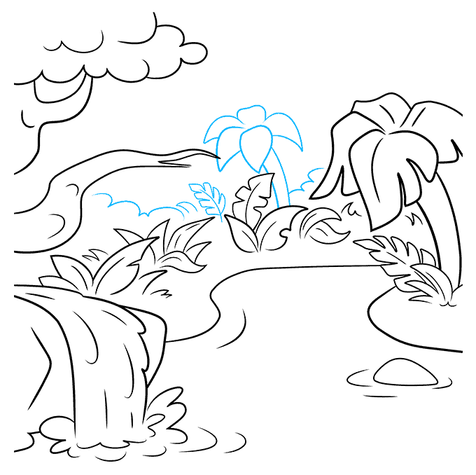 How to Draw Jungle: Step 8