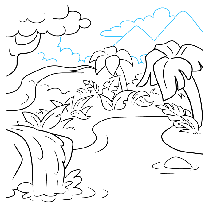 How to Draw Jungle: Step 9
