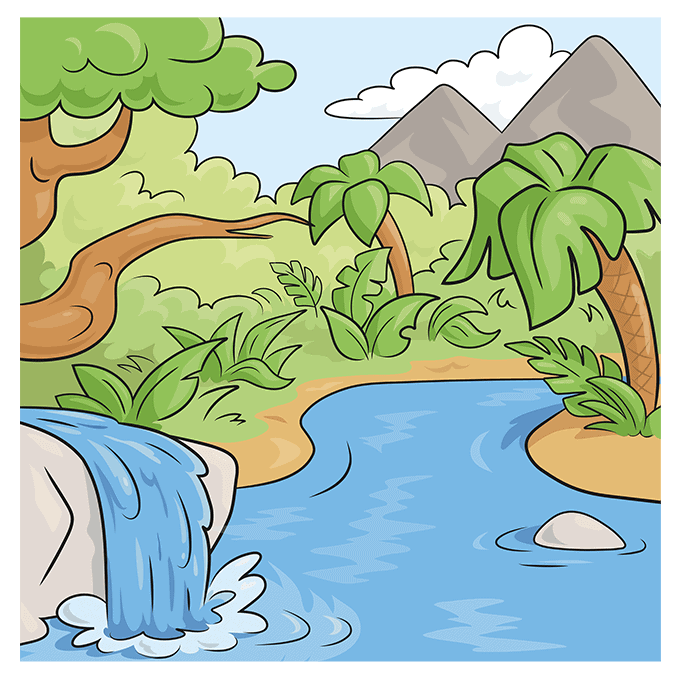 How to Draw Jungle: Step 10