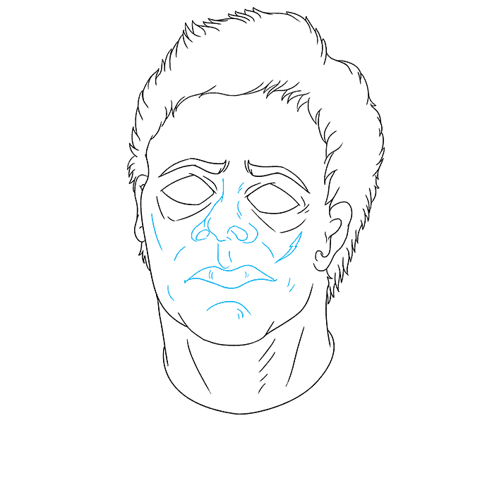 How to Draw Michael Myers from Halloween: Step 8