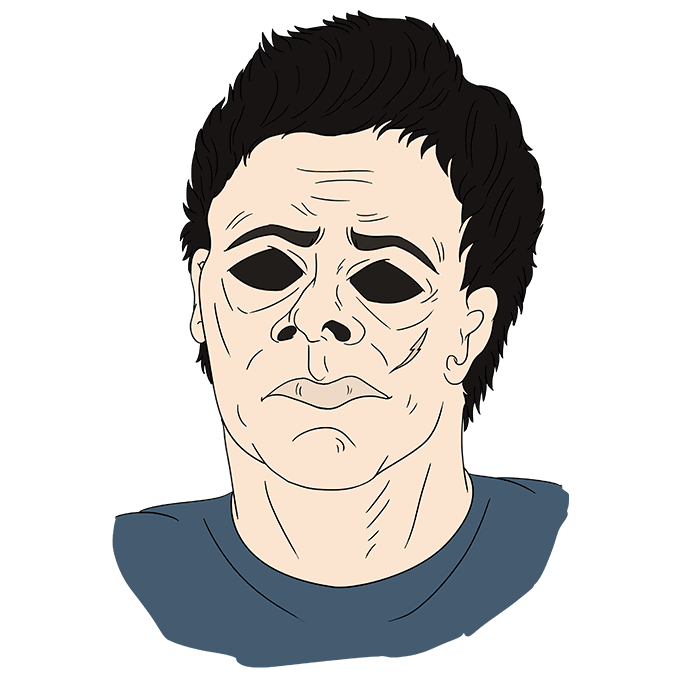 How to Draw Michael Myers from Halloween: Step 10